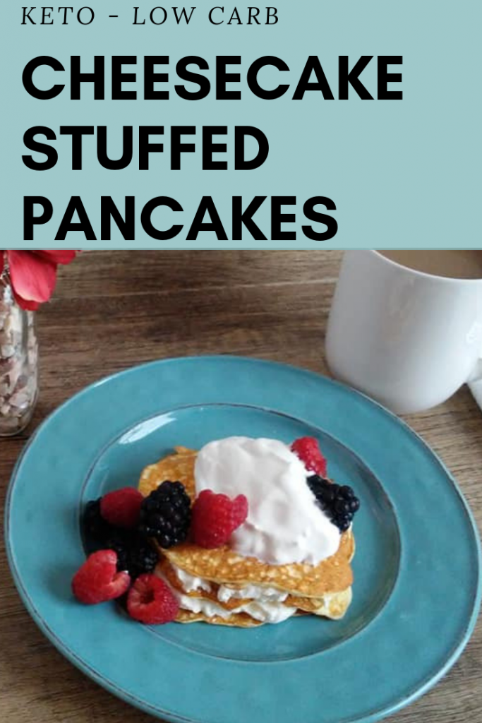 Easy Keto Cheesecake Stuffed Pancakes