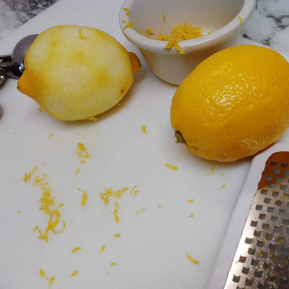 Lemon zest to beat the eggy taste!
