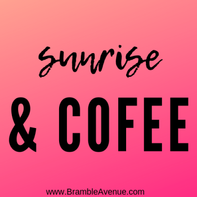 Sunrise and coffee