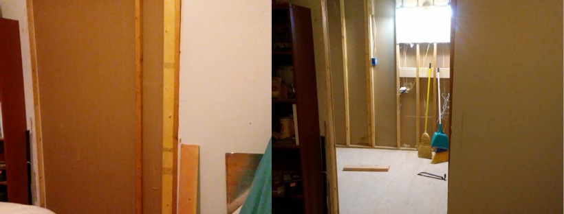 changing double door to single door opening on modular