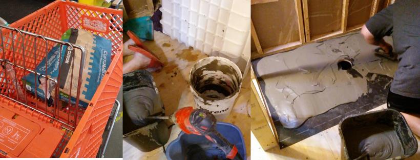 mortar under shower base