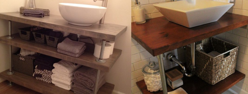 How to build an industrial farmhouse vanity