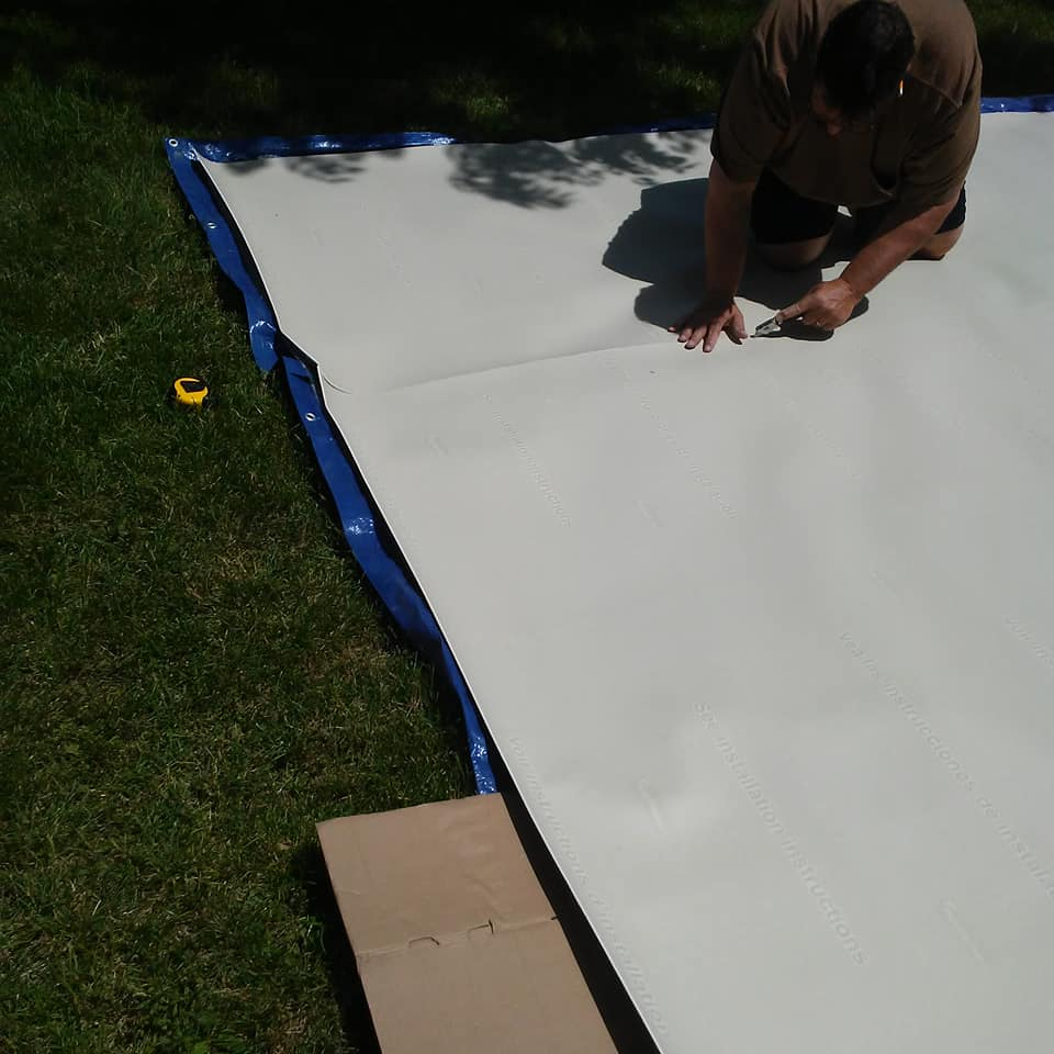 Trimming solid vinyl for installation