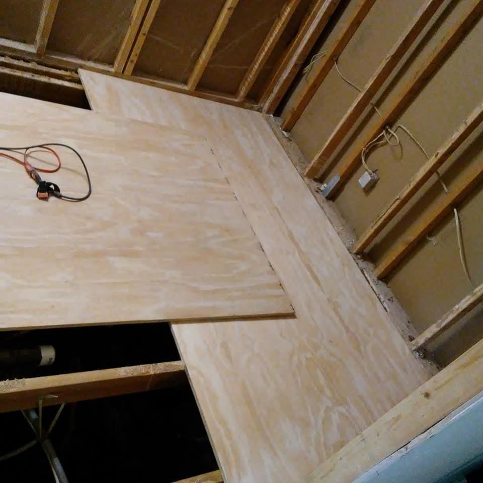 New floor is in sight!