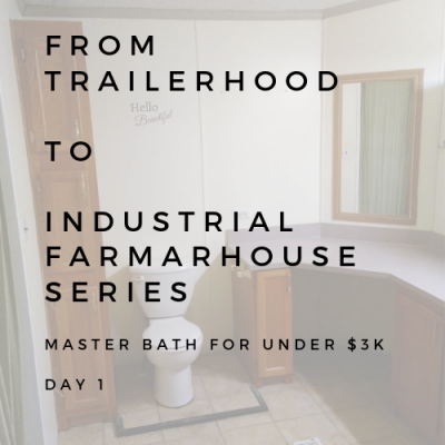 bATHROOM REMODEL: FROM TAILERHOOD TO INDUSTRIAL FARMHOUSE SERIES DAY 1