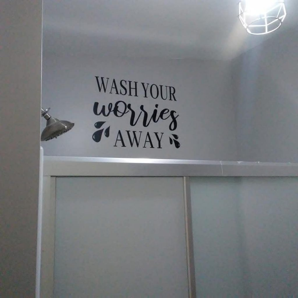 bathroom wall decal