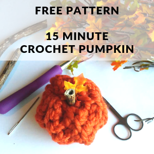 15 Minute Crochet Pumpkin