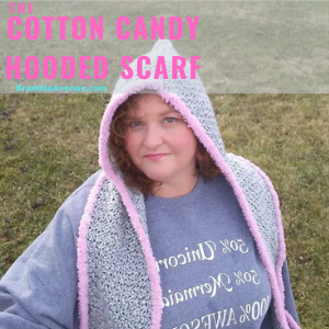 COTTON CANDY HOODED SCARF