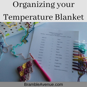 How to Organize A Temperature blanket