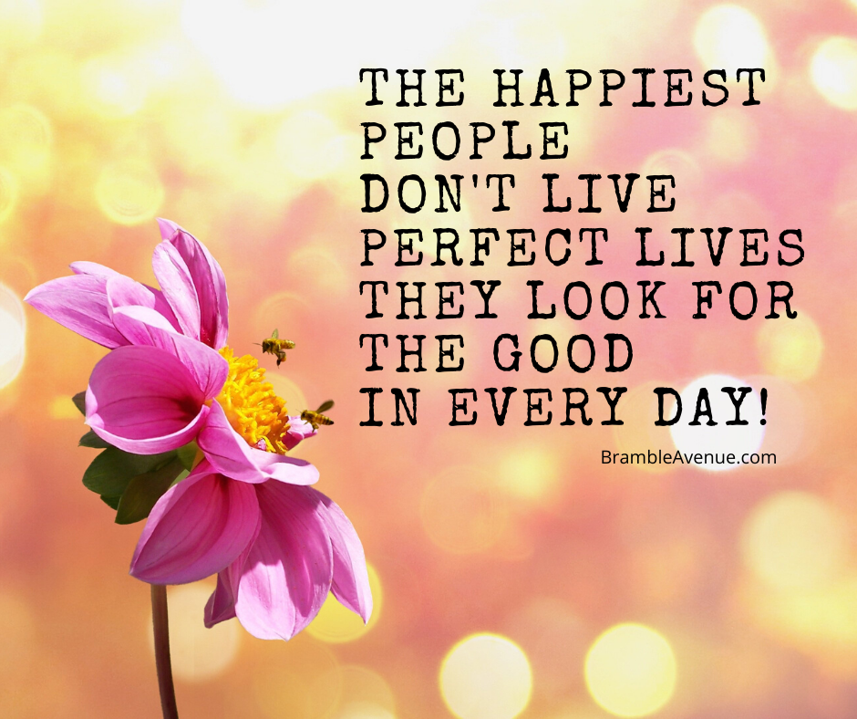 happiest people look for the good in every day