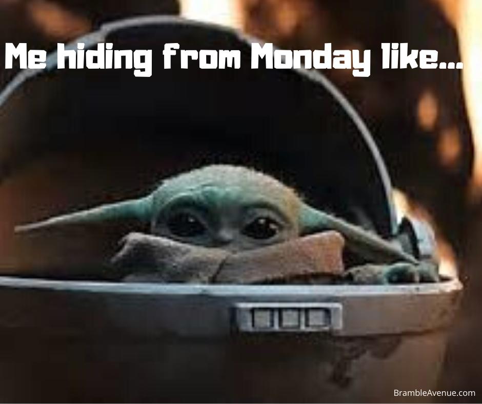 funny yoda monday image