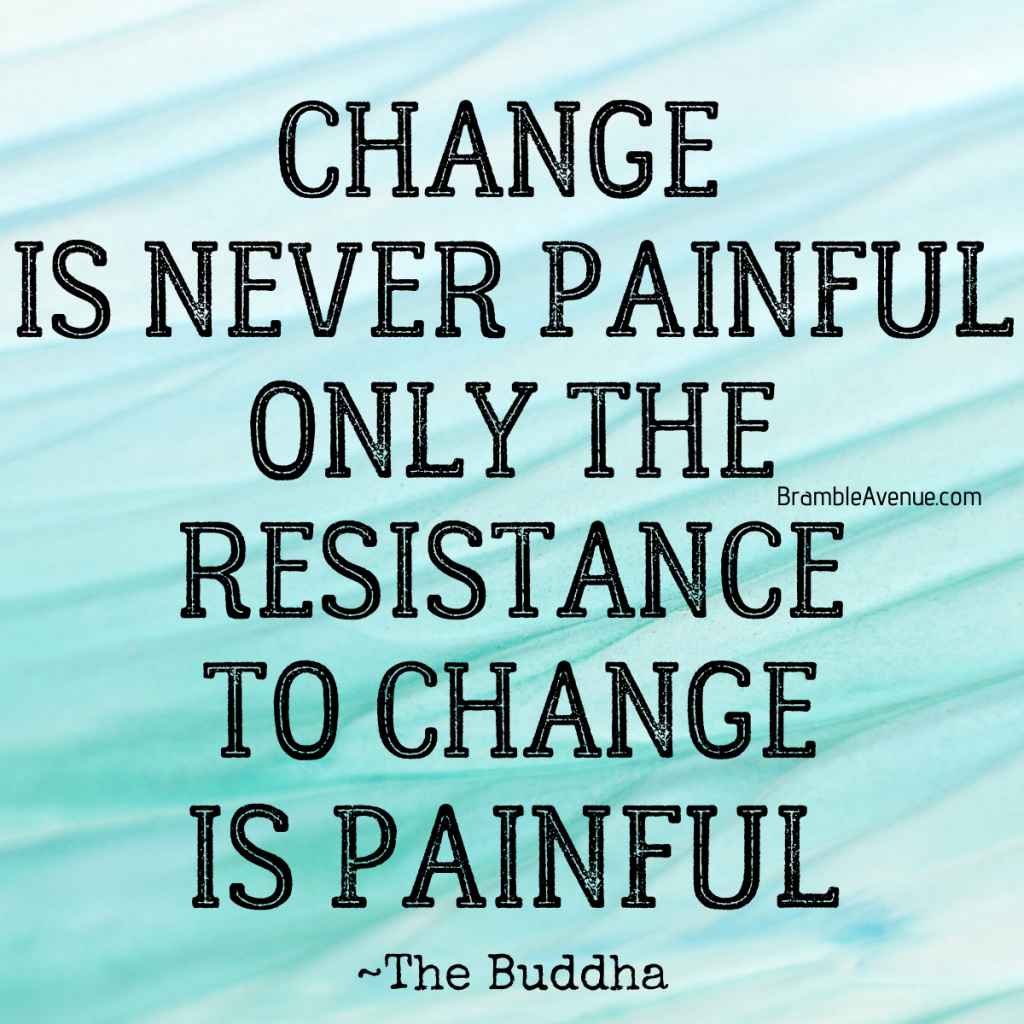 change is not what's painful