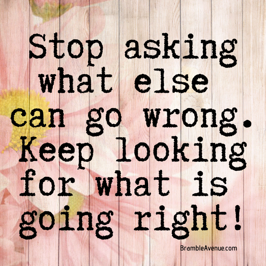 look for what is going right quote