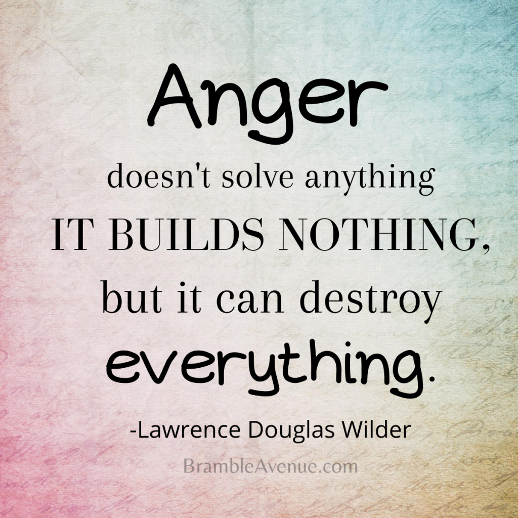anger builds nothing and destroys everything