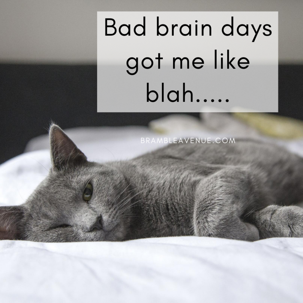 bad brain day blah