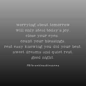 soothing good night quote