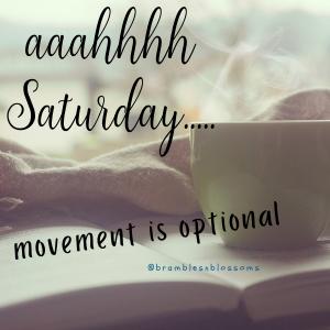 AAAHHHH SATURDAY movement is optional