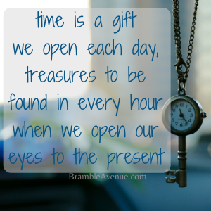 time is a gift, life is a treasure