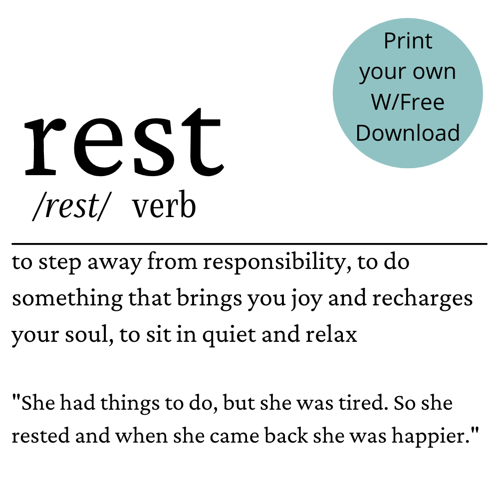 rest definition free printable