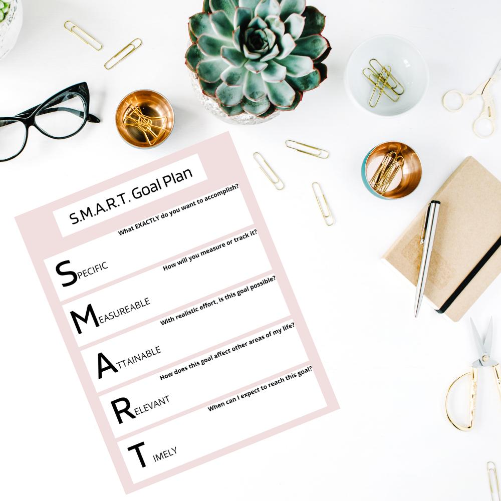 smart goal plan worksheet free printable