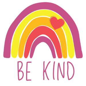 be kind rainbow image