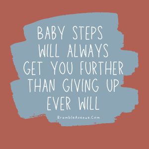 baby steps quote image