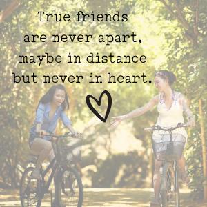 friends apart in distance