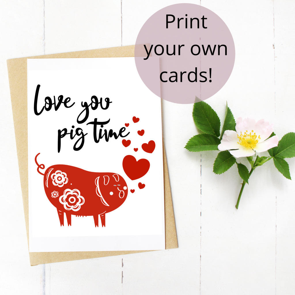 love you pig time free download card file