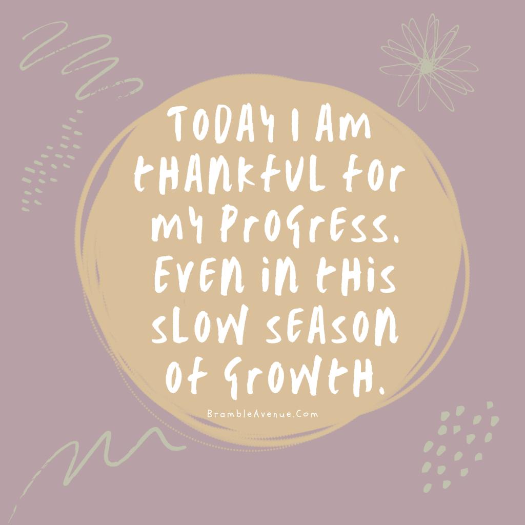 progress in the slow season quote