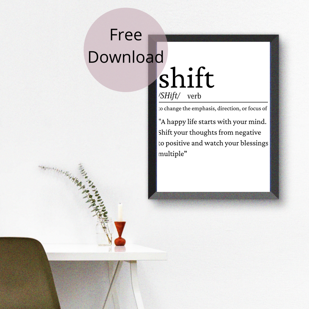 shift definition word art free printable