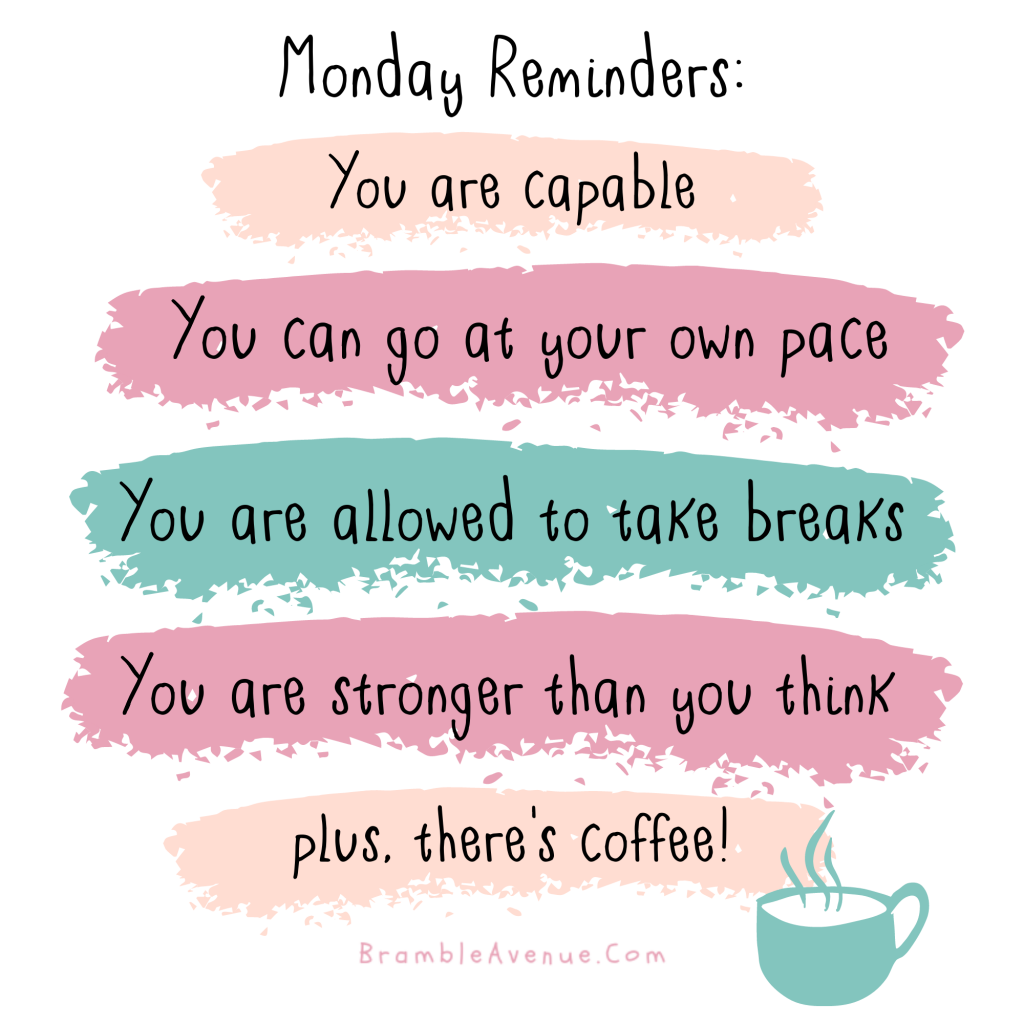 monday reminders quote image