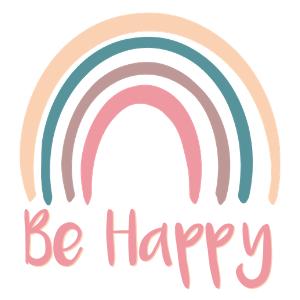 be happy rainbow printable