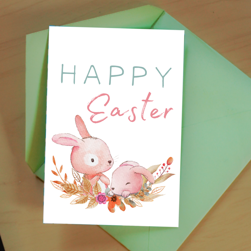 cute free easter card printable