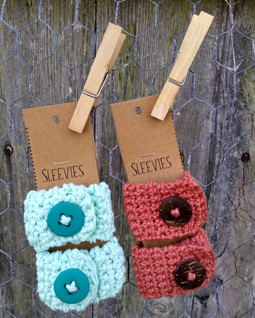 FREE sleeve holder crochet pattern