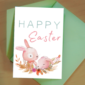 cute free printable easter card