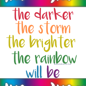 rainbow after the storm quote free image