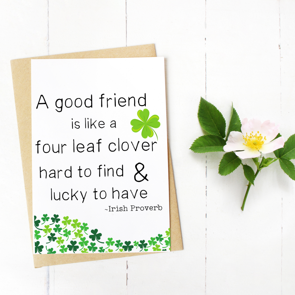 st patty day friend card free printable