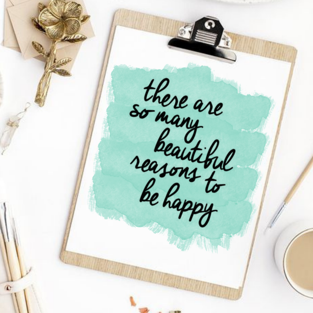 be happy free printable wall art