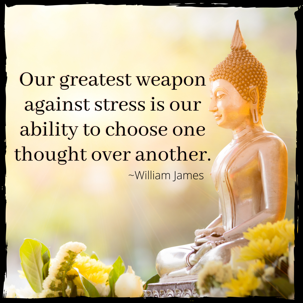 weapon against stress quote image