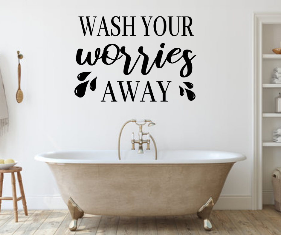 make your own bathroom wall decal free svg