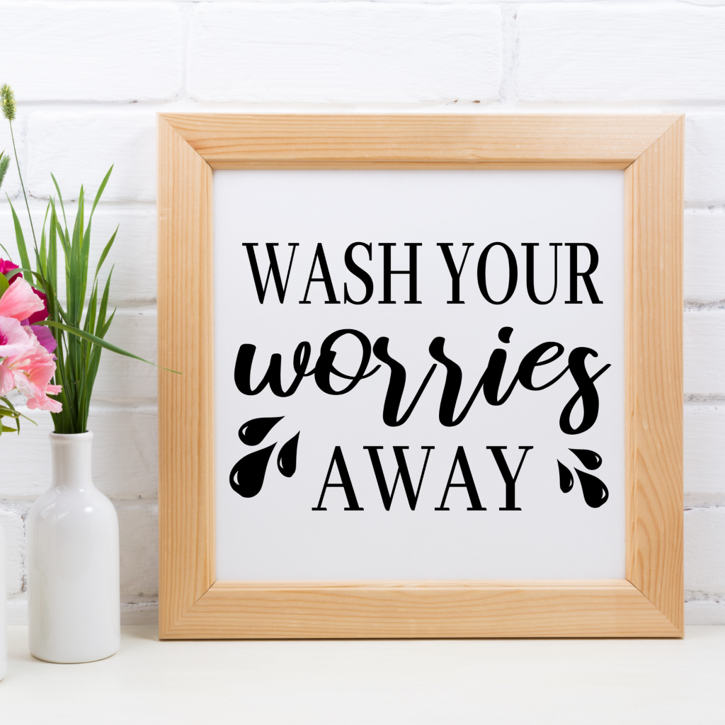 free wash your worries away svg