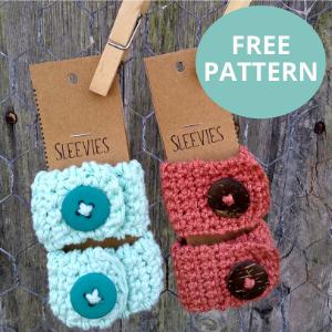 sleeve holder free crochet pattern