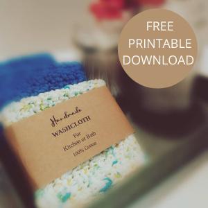 free printable dish cloth wrapper