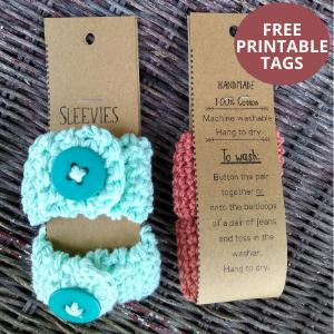 sleeve holder free printable tags
