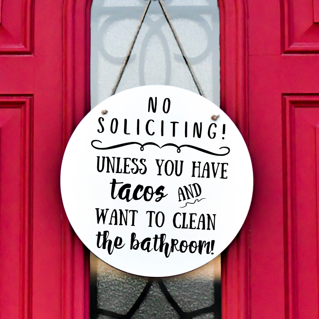 no soliciting unless you have tacos free svg