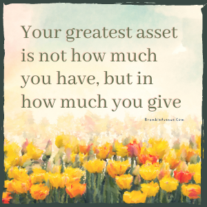 giving is your asset quote