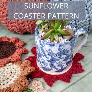 free sunflower coaster pattern
